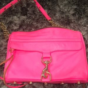 Hot Pink Rebecca Minkoff MAC with Gold hardware